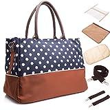 BAYTTER® Multifunktionale Baby Wickeltasche Pflegetasche Handtasche Kinderwagen Buggy Pflegetasche, 40 x 18 x 29cm