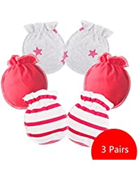 Affe 3pares/lot bebé niña niño guantes manoplas antiarañazos para recién nacido