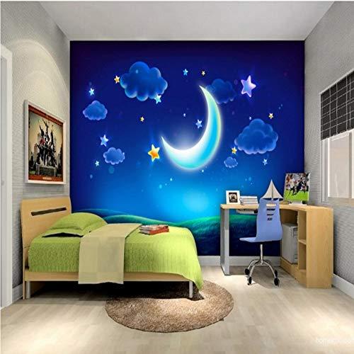 Lxsart Fototapete Cartoon Traum Mond Mond Fototapete Kinderzimmer Tapete Einkaufszentrum Hotel Restaurant Fototapete-350cmx245cm