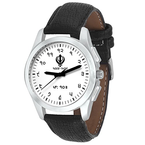 Imperial Club Men's Famous Religious Impression Khanda White Rugged Analog Watch (wtm-041)