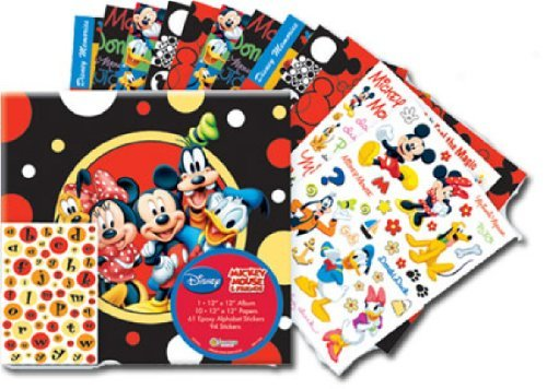 SandyLion 12-Inch by 12-Inch Disney Mickey and Friends Scrapbook Album Kit by Sandylion - Disney Scrapbook Kit