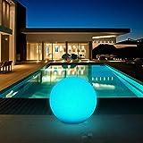 LED Solarleuchten, Kealive Solar Gartenleuchten kugelleuchte Solar, Durchmesser 30 cm 8 verstellbare Farben Wasserdichte Klasse IP67 Solarlampe außen Runde Form für Garten, Hof usw.