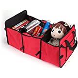 GosFrid Baby Cloth Storage Box Organizer Travel Trunk Cooler Insulated Leak Proof Collapsible Car Boot Organizer Red Color(1pc)
