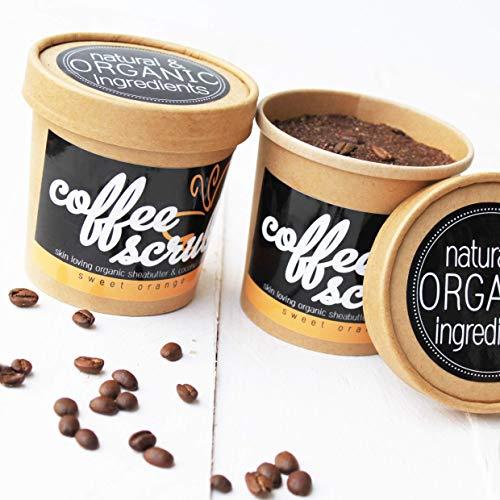 Coffee Body Scrub - Körperpeeling mit Kaffee | fair trade, Blutorangen Öl, Sheabutter, Kokosnussöl