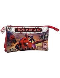 DISNEY  Trousse 3 Compartiments Big Hero 6 Vanity, 22 cm, Rouge