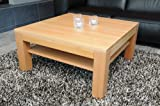 Holz-Projekt-Summer Couchtisch-Tisch 90 x 90 cm Zarge bündig mit Ablage Buche/Echtholz/Massivholz/Höhe 42 cm