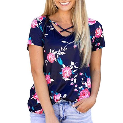 womens-blouse-xinantime-short-sleeve-flower-printed-casual-blouse-tops-m-blue-bandage