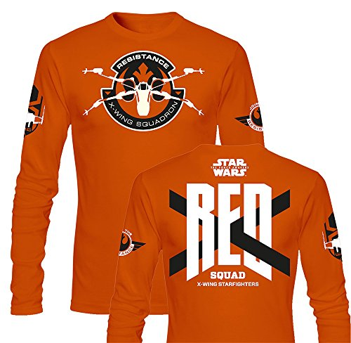 SD toys - T-Shirt - Star Wars Episode 7- Homme Red Squad Orange Manche Longue Taille M - 8436546899419