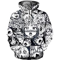 Funny Sexy Anime 3d Print Hoodies Pullover Cool Sexy Cartoon Streetwear Clothing with Pocket Unisex S-3xl,L