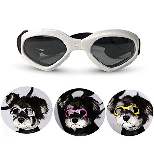 Haustier UV Schutz Brille klein Mittel Hund Sonnenbrille wasserdicht Sonne Brille Hund Kleider Pflege Lieferungen Einstellbar Zum Teddy Bichon Schnauzer , Blue