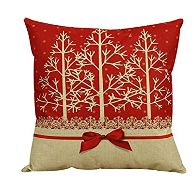Christmas Pillow Case, Eenkula 2016 Party Lovely Vintage Christmas Pillow Vintage Christmas Sofa Bed Home Decoration Festival Pillow Case Cushion Cover 45cm *45cm - cheap UK light store.