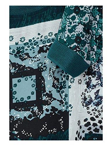 Cecil Patchwork Blouse, Camicia Donna Grün (Emerald Green 31023)