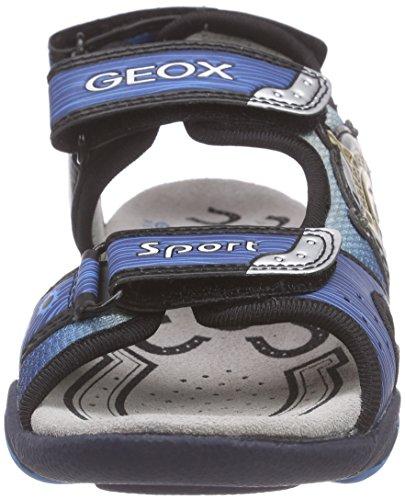 Geox Strike A, Sandales Bout Ouvert Garçon Bleu (C0693)