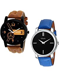 Mikado Exclusive Fashion Analog Watches Combo For Men's And Boy's Watch - For Men