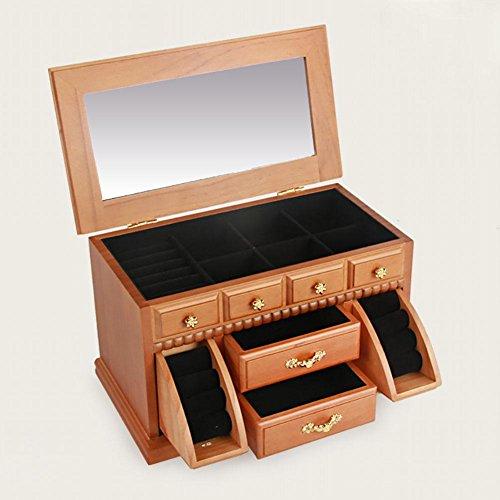 BANISH Schmuckkästchen Woody Drei Schichten Schublade Mit einem Spiegel Schmuck Aufbewahrungsbox , 2