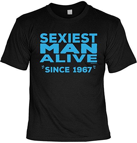 T-Shirt zum 50. Geburtstag Sexiest Man Alive Since 1967 Geschenk zum 50 Geburtstag 50 Jahre Geburtstagsgeschenk 50-jähriger Schwarz