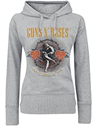 Guns N' Roses Sweet Child O'Mine Jersey con Capucha Mujer Gris