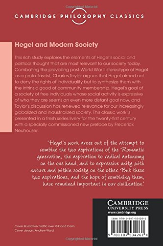 Hegel and Modern Society (Cambridge Philosophy Classics)