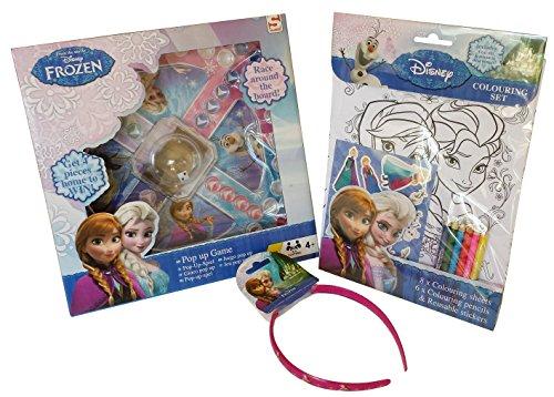 Frozen Pop Up Game and Frozen Colouring Set Bundle (3 items)