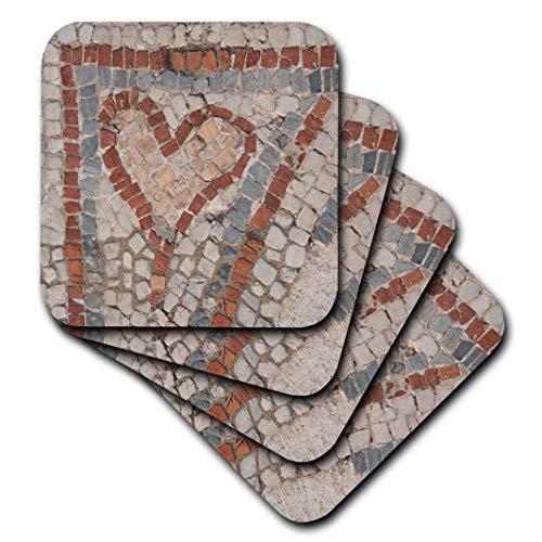 3dRose Danita Delimont–Fliesen–Türkei, KUSADASI, Ephesos. Detail der Alten Boden Mosaik.–Untersetzer, keramik, set-of-4-Ceramic