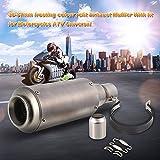 kkmoon 38 – 51 mm frosting Kleur refit Uitlaat geluiddemper met geschikt voor motorfietsen ATV Universal