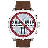Diesel Uhrband Wechselarmband LB-DZ4330 Original Ersatzband DZ 4330 Uhrenarmband Leder 26 mm Braun