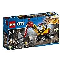 Incluye una minifigura de un minero y una figura de una araña.Contiene un martillo hidráulico que perfora de verdad equipado con brazo móvil y cabina giratoria.
