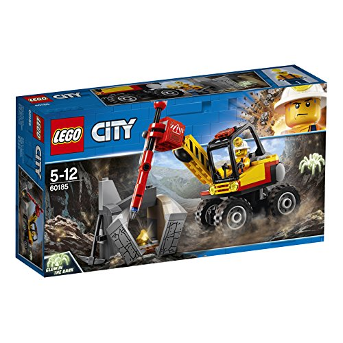LEGO City 60185 - Bergbauprofis Power-Spalter, Konstruktionsspielzeug -