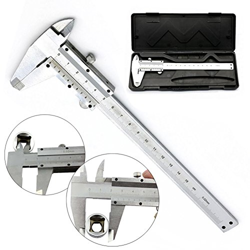 Vernier Caliper Stainless With Case Micrometer Measuring Tool Gauge 150mm/0.02mm Test