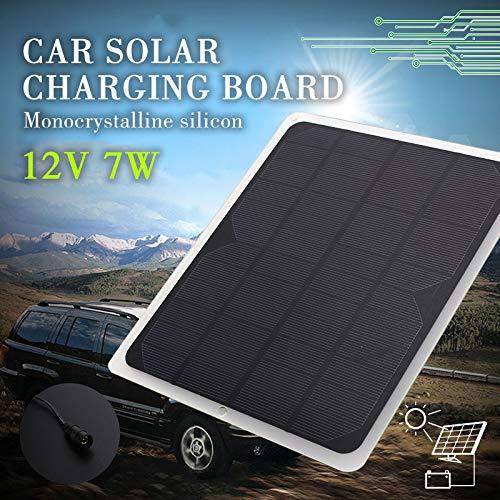 12 V 7 Watt Einkristall Silizium Solar Ladekarte Tragbare Auto Solar Gerät Batterie Außen Ladegerät-Zurück Matte Prozess (18,5X21,5 cm)
