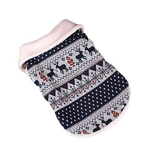 AMURAO Winter Hund Kleidung Mantel, Weihnachten Hirsch Schnee warme Puppy Jacket Soft Strickkleidung Bekleidung -