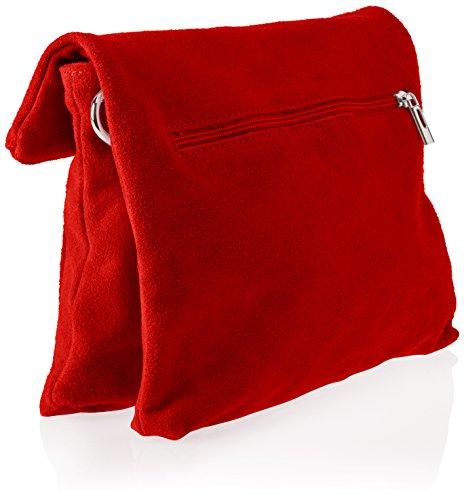 Chicca Borse 8651, Borsa a Spalla Donna, 28x22x5 cm (W x H x L) Rosso (Red)