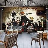 NXMRN Anime Japonais Naruto 3D Papier Peint Salon Chambre Chambre Enfants Chambre Fond Décoration Murale,350x250cm