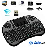 Inteset Wireless, Backlit, Mini Keyboard With Touchpad Mouse For Use With Media Streamers Including Nvidia Shield, Kodi For Windows, Raspberry PI PCs