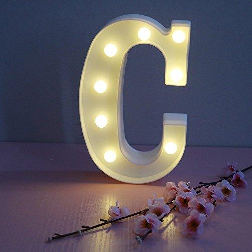 Alphabet Buchstaben LED Nachtlicht Festival Festzelt Zeichen Wand Dekorative Tischlampen Hochzeit Schlafzimmer Lampe Wandbehang Fotografie Ornamente Motiv Lampe (C)