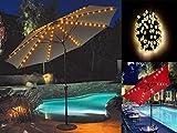 Lichterkette für Sonnenschirm, 72LEDs, solarbetrieben, für 8 beleuchtete Schirmspeichen