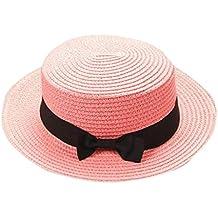 15f16a4634b99 Madre Y Yo Bebé Bowknot Niños Sombrero Transpirable Sombrero De Paja  Sombrero De Niños Sombrero De
