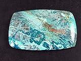 The Russian Stone Il Russo Pietra cabochon Quantum Quattro–Malachite Shattuckite Chrysocola Dioptase–3.9cm