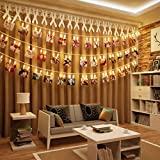 KNONEW LED Photo Clip String Lights - 40 clips photo 2.4M Battery Powered LED...