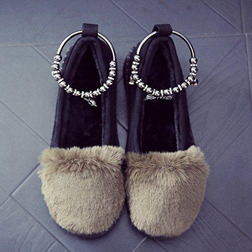 DogHaccd pantofole,In autunno e inverno, soia scarpe e soggiorno elegante in una fitta e antiscivolo in cotone indoor pantofole pacchetto con scarpe di peluche Il verde4