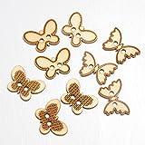 Club verde mariposa botones de madera