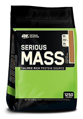 Optimum Nutrition Serious Mass Ganador, Chocolate y Mantequilla de Cacahuete - 5443 g