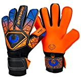 Renegade GK Vortex Salvo Gants Gardien Football pour Enfants Taille 6, Roll-Negative Hybrid Cut, Level 3 avec 6D Super Mesh Body & German Hyper Grip - Garantie 30 Jours