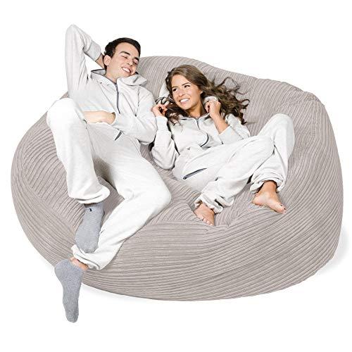 Lounge Pug®, 'Mega-Mammoth' Sofa Sitzsack XXL, Schlafsofa, Cord Creme