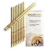 HOPISUN candele auricolari cilindriche 10 pezzi benessere cera d'api candele per orecchio con filtro