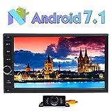 foiioe 17,8cm Auto Stereo Android 7.1Auto Stereo-Multi Double DIN in Dash Haupteinheit Autoradio 1080P Video Quad-Core CPU GPS Navigation Unterstützung Wifi Bluetooth RDS SD/USB/3G/OBD2/4G & Gratis Backup Kamera