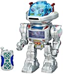 Product Description: Pressing the GO button on the body of the robot, the presentation starts sound and light effects, inviting at the same time to have fun. Driving the robot is done by remote control or buttons on its body. The robot left on standb...