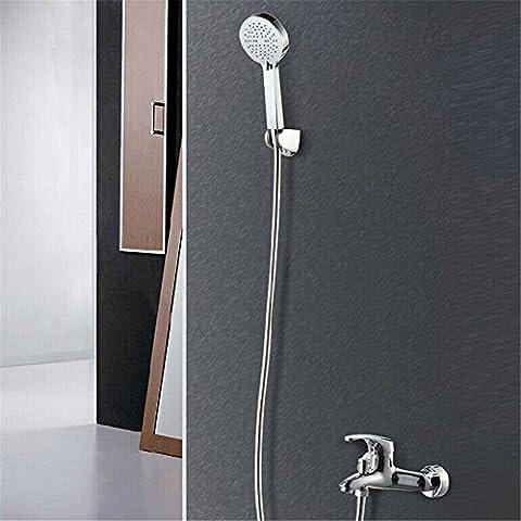 CAC Kit de ducha de baño de cromo pulido C597