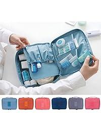 E : Zip Lock Storage Makeup Cosmetic Case Pouch Make Up Toiletry Washing Bag Hanging Storage Pocket Rangement...