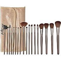 Just Gold 18 Pieces Brush Set - Beige, JG-9257, Pack of 1
